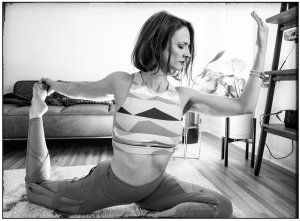 Gia Mora in King Pigeon Pose, Photo by Diliana Deltcheva