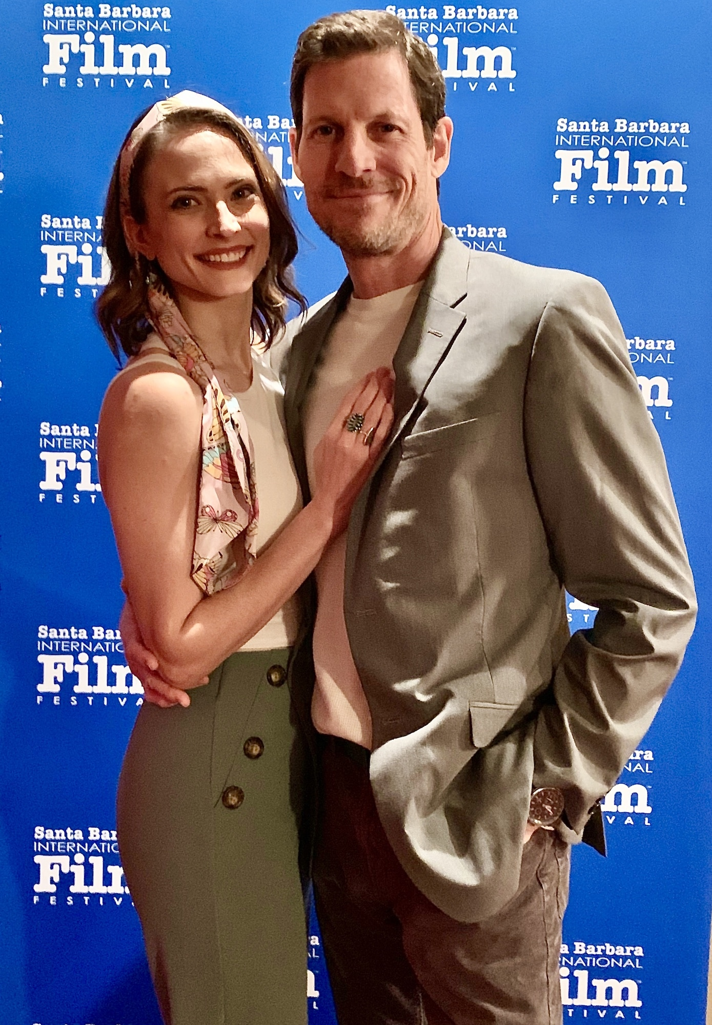 With fiancee Denny Rivas at SBIFF
