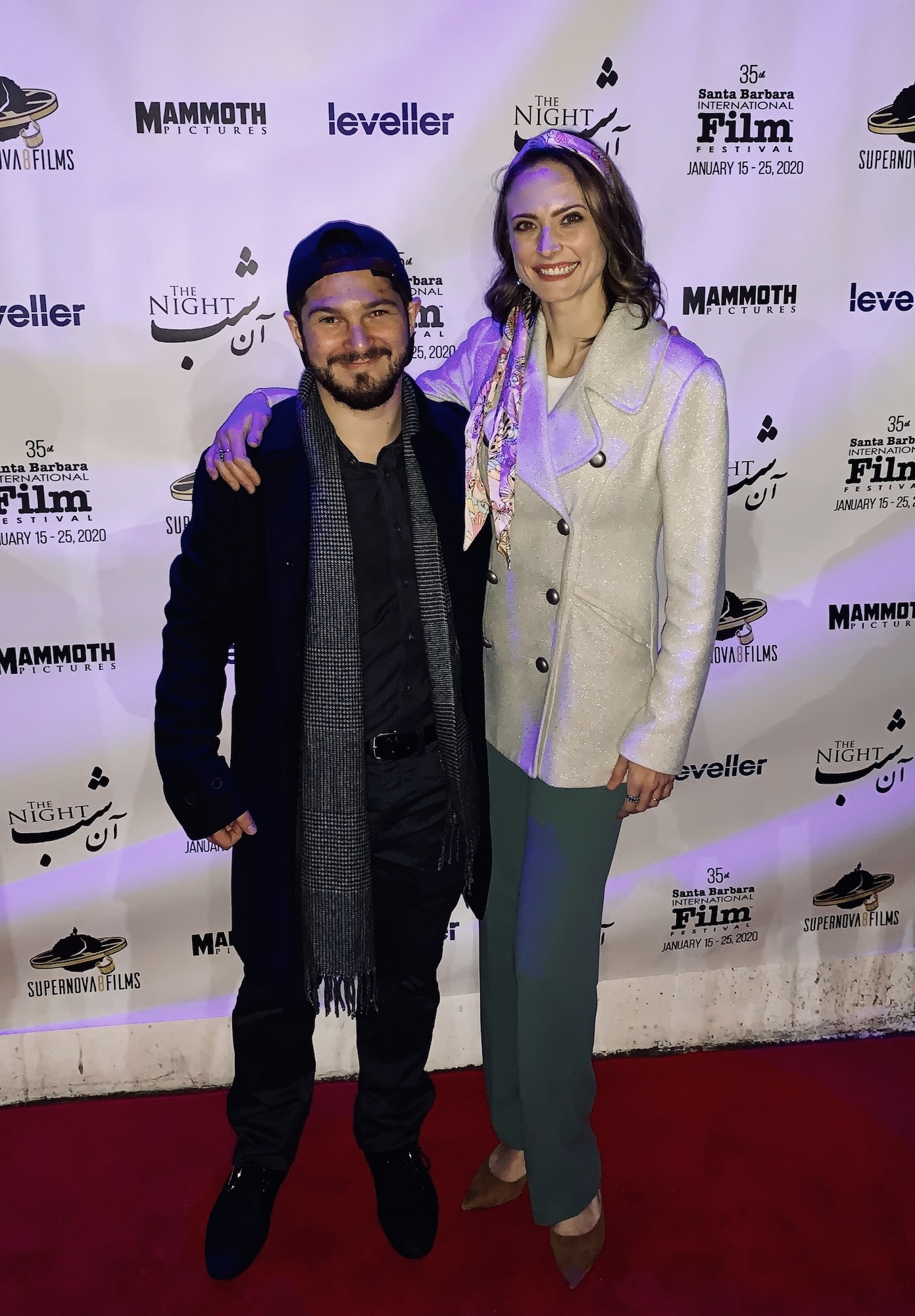 With producer Alex Bretow at SBIFF
