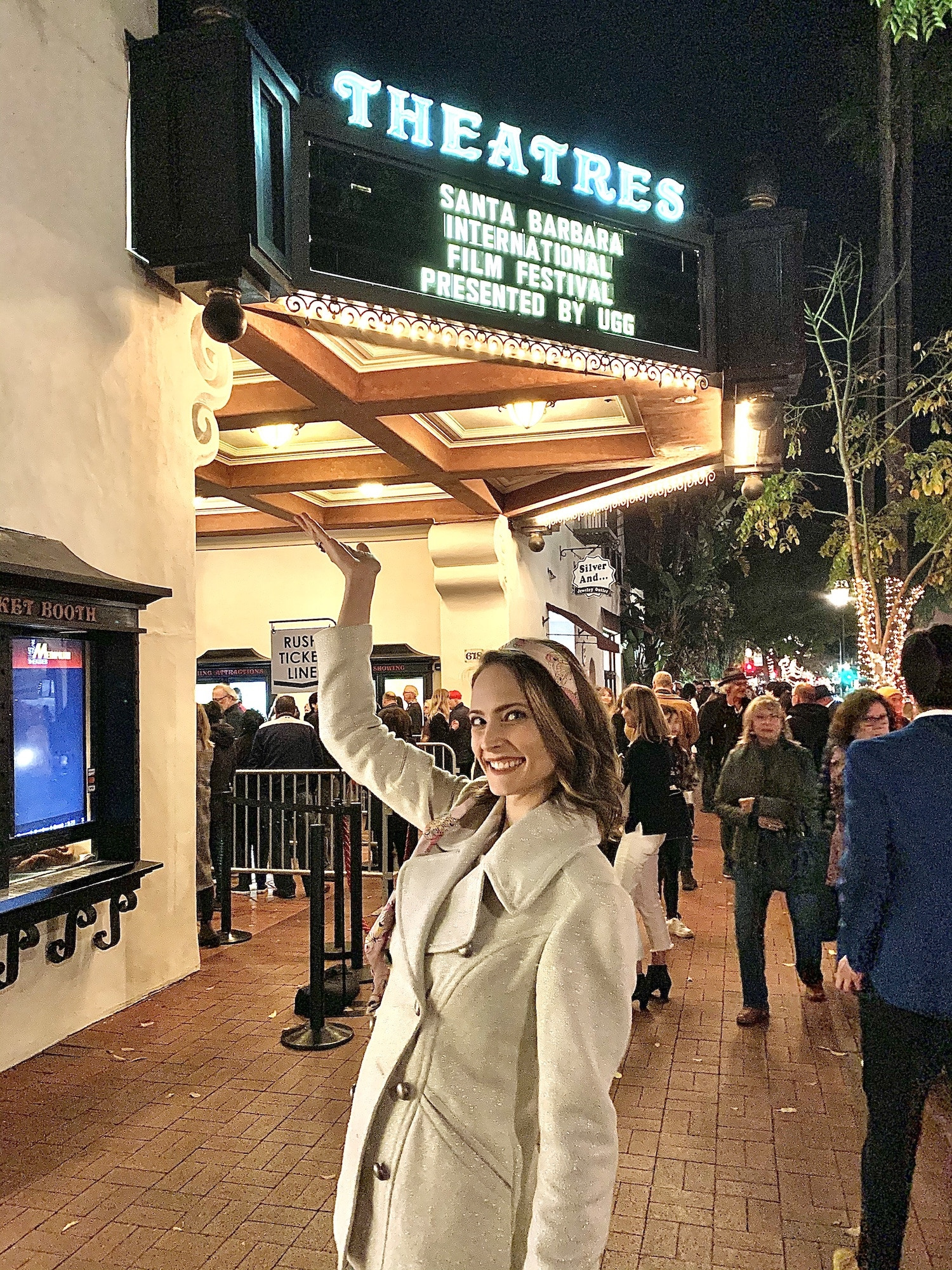 Showcasing the marquee at SBIFF